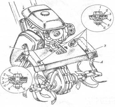 Установка щитков на мотокультиватор Крот.