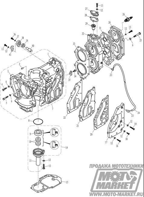 картер лодочного двигателя