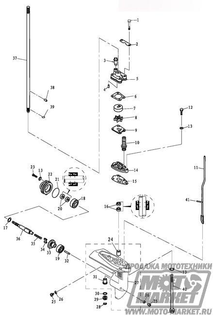 схема китайского лодочного мотора
