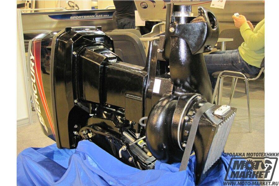 установка водомета с подвесным мотором